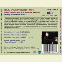Load image into Gallery viewer, MYASKOVSKY: PIANO SONATAS 4 & 5 - MCLACHLAN