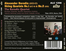 Load image into Gallery viewer, BORODIN: STRING QUARTETS NOS.1 & NO.2 - BORODIN QUARTET