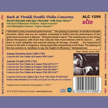 Load image into Gallery viewer, BACH & VIVALDI: DOUBLE VIOLIN CONCERTI - DAVID & IGOR OISTRAKH,  ISAAC STERN