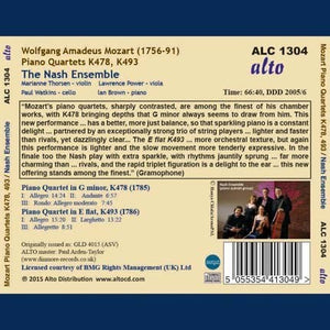 MOZART: TWO PIANO QUARTETS, K478 & K493 - NASH ENSEMBLE