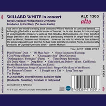 Load image into Gallery viewer, WILLARD WHITE IN CONCERT