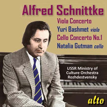 Load image into Gallery viewer, SCHNITTKE: CONCERTOS FOR VIOLA AND CELLO (NO. 1) - BASHMET, ROZHDESTVENSKY, USSR MINISTRY OF CULTURE ORCHESTRA