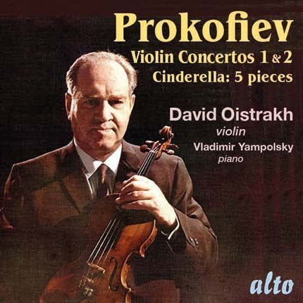 PROKOFIEV: VIOLIN CONCERTOS NO 1 & 2; FIVE PIECES FROM CINDERELLA - RICHTER, YAMPOLSKY