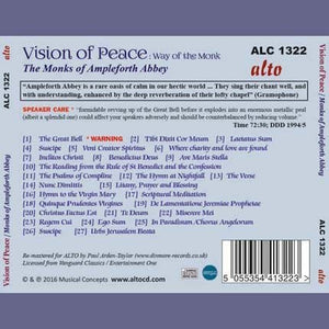 VISION OF PEACE: THE WAY OF THE MONK - GREGORIAN CHANT FROM AMPLEFORTH ABBEY