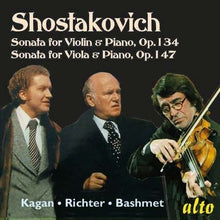 Load image into Gallery viewer, SHOSTAKOVICH: VIOLIN SONATA; VIOLA SONATA OPP. 134 - RICHTER, KAGAN, BASHMET