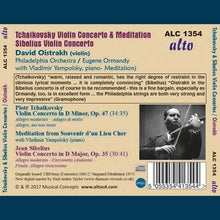 Load image into Gallery viewer, TCHAIKOVSKY & SIBELIUS: VIOLIN CONCERTOS - OISTRAKH, ORMANDY, PHILADELPHIA ORCHESTRA