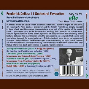 DELIUS: 11 FAVOURITES - BEECHAM, ROYAL PHILHARMONIC