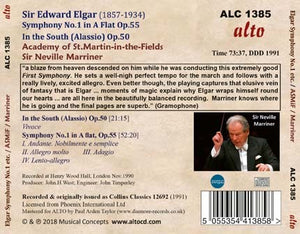 ELGAR: SYMPHONY NO.1; IN THE SOUTH - ACADEMY OF ST. MARTIN IN THE FIELDS, MARRINER