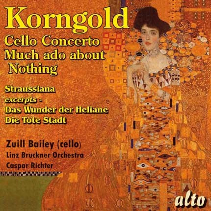 KORNGOLD: CELLO CONCERTO, MUCH ADO ABOUT NOTHING SUITE - LINZ BRUCKNER ORCHESTRA, ZUILL BAILEY
