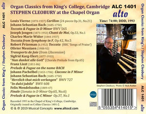 ORGAN CLASSICS FROM KING'S - STEPHEN CLEOBURY