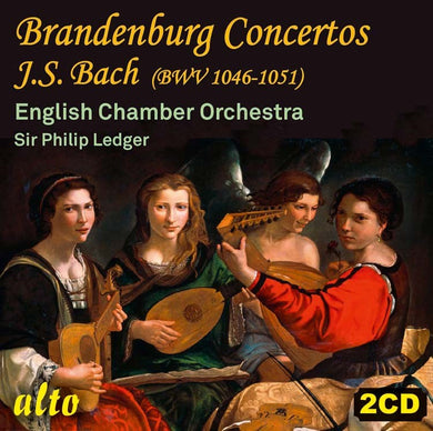 BACH: BRANDENBURG CONCERTOS BWV 1046-51 - LEDGER, ENGLISH CHAMBER ORCHESTRA (2 CDS)