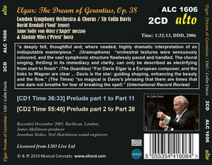 ELGAR: THE DREAM OF GERONTIUS, OP. 38 - COLIN DAVIS, LONDON SYMPHONY ORCHESTRA (2 CDS)