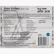 Load image into Gallery viewer, BRITTEN: PETER GRIMES - BRITTEN, PEARS, COVENT GARDEN (2 CDS)