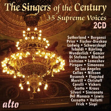 Load image into Gallery viewer, THE SINGERS OF THE CENTURY: 35 SUPREME VOICES IN THEIR PRIME (2 CDS)
