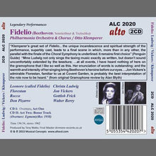 Load image into Gallery viewer, BEETHOVEN: FIDELIO - CHRISTA LUDWIG; JON VICKERS; KLEMPERER; PHILHARMONIA ORCHESTRA (2 CDS)