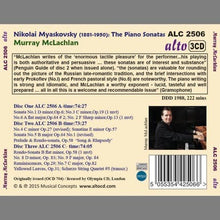 Load image into Gallery viewer, MYASKOVSKY: COMPLETE PIANO SONATAS - MCLACHLAN (3 CDS)