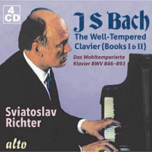 BACH, J.S.: THE WELL-TEMPERED CLAVIER, BOOKS I & II - SVIATOSLAV RICHTER (4 CDS)
