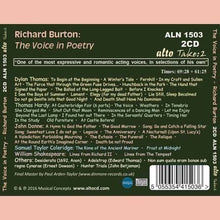 Load image into Gallery viewer, RICHARD BURTON: THE VOICE IN POETRY (2 CDS)