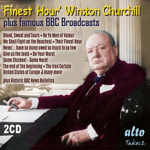 """FINEST HOUR"" - WINSTON CHURCHILL'S GREATEST SPEECHES (2 CDs)"