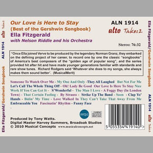 "ELLA FITZGERALD - ""OUR LOVE IS HERE TO STAY"" - THE BEST OF THE GERSHWIN SONGBOOK"