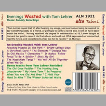 Load image into Gallery viewer, EVENINGS WASTED WITH TOM LEHRER