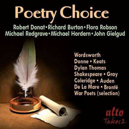 POETRY CHOICE: LEGENDARY VOICES RECITE GREAT POETRY