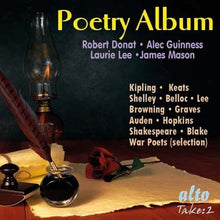 Load image into Gallery viewer, POETRY ALBUM: ROBERT DONAT; ALEC GUINNESS; JAMES MASON; LAURIE LEE & MORE