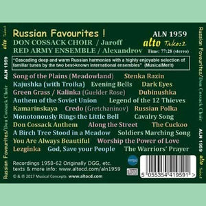 RUSSIAN FAVOURITES! - DON COSSACK CHOIR, RED ARMY ENSEMBLE