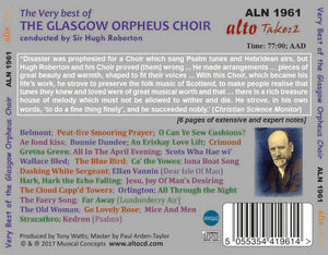 VERY BEST OF THE GLASGOW ORPHEUS CHOIR