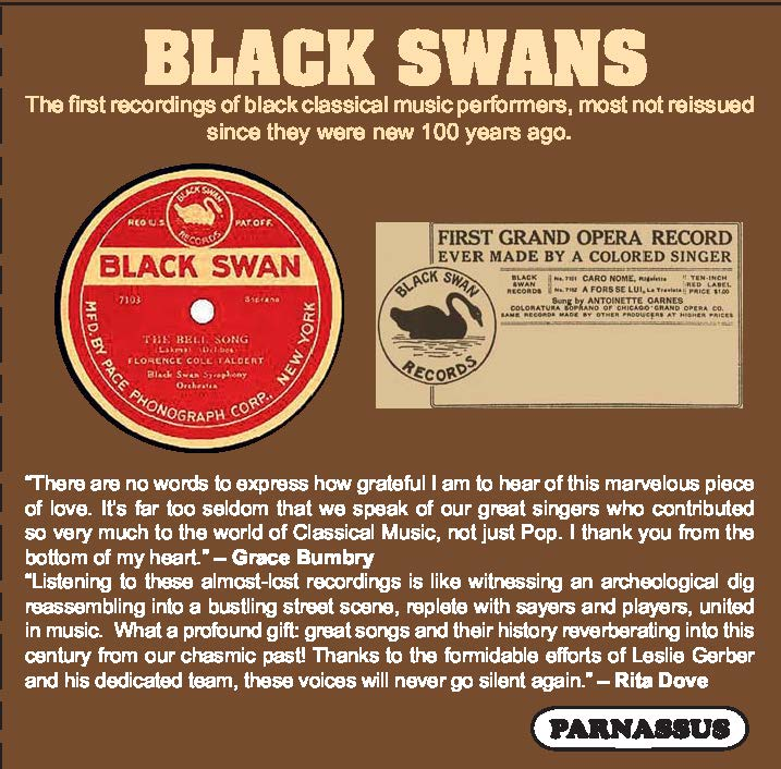 BLACK SWANS - EARLIEST AFRICAN-AMERICAN CLASSICAL MUSIC PERFORMERS