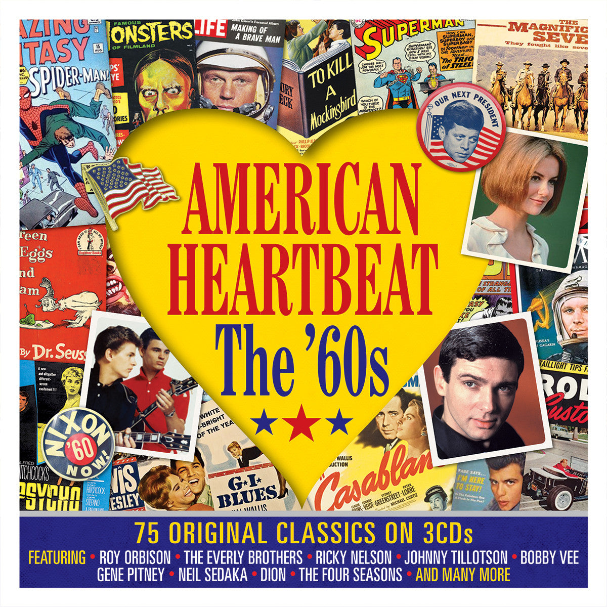 AMERICAN HEARTBEAT-THE '60S: Roy Orbison,Everly Brothers,Johnny Tillotson,Bobby Vee,Gene Pitney...