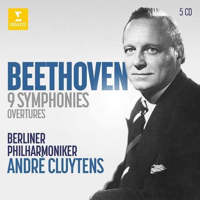 BEETHOVEN: THE 9 SYMPHONIES, OVERTURES - CLUYTENS, BERLIN PHILHARMONIC (5 CD)