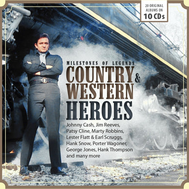 COUNTRY AND WESTERN HEROES (10 CDS)