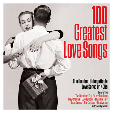 100 GREATEST LOVE SONGS: Everly Brothers, Ray Charles, Buddy Holly, Drifters, Etta James (4 CDS)
