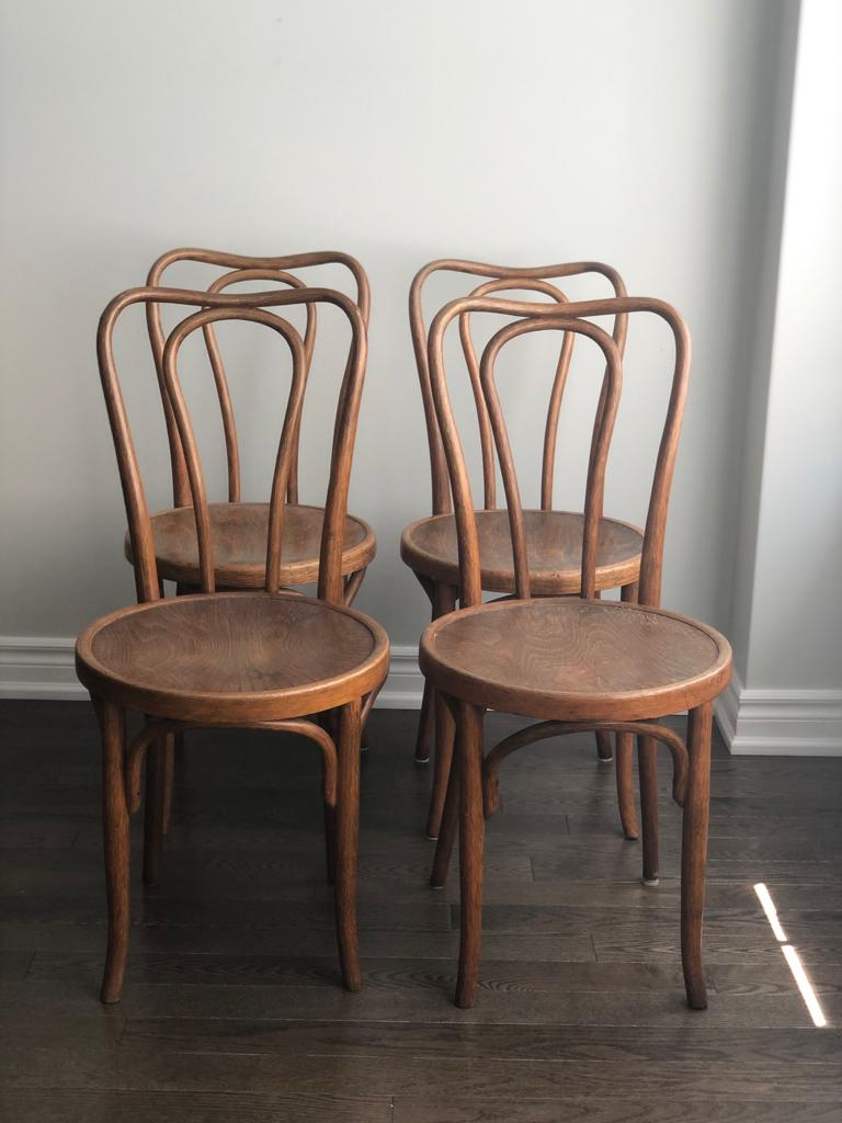 Set of 4 Jacob & Josef bentwood chairs
