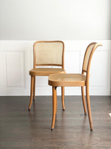 set of 2 vintage Ligna Thonet style chairs