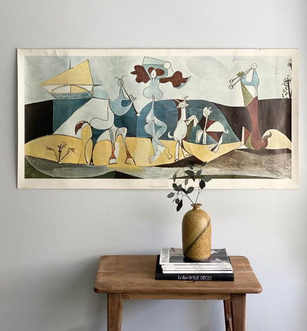 "extra large vintage art poster, ""joy of life"" by Picasso"