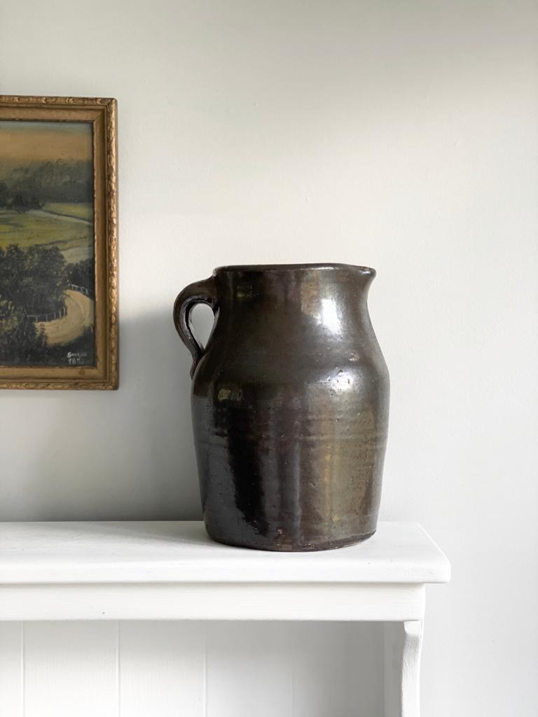 antique stoneware vessel