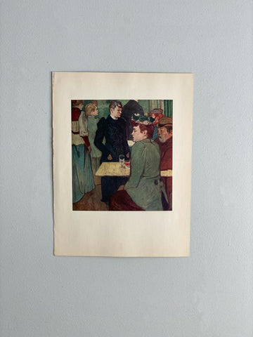 Corner in the moulin de la galette, Toulouse-Lautrec
