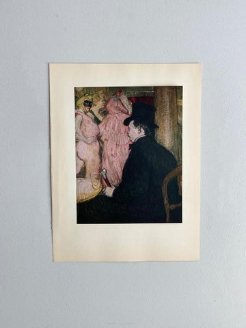 Maxime Dethomas at the opera ball, Toulouse-Lautrec