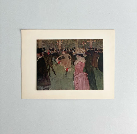 At the moulin rouge - the dance, Toulouse-Lautrec