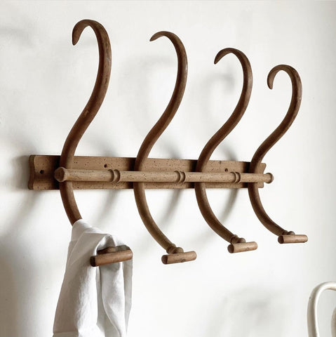 antique J&J Kohn bentwood coat rack II