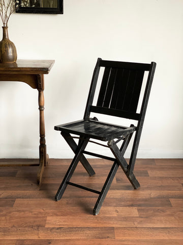 antique wood folding chair