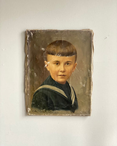 antique portrait of boy