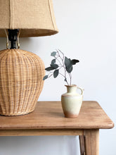 Load image into Gallery viewer, vintage wicker lamp