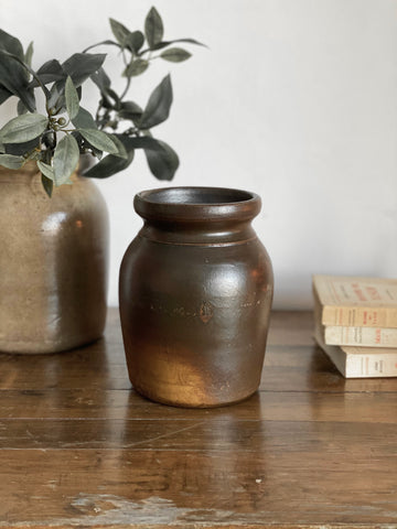 antique stoneware crock III
