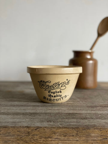 1930s Weston's Biscuits advertising pudding bowl