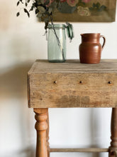 Load image into Gallery viewer, vintage butcher block table