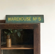 Load image into Gallery viewer, antique warehouse sign