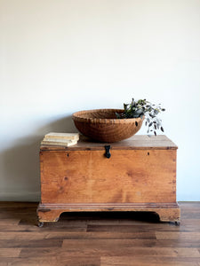 antique wood blanket box